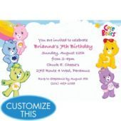 Care Bears Custom Invitation - Custom Invitations - Birthday Invitations - Girls Birthday - Birthday Party Supplies - Categories - Party City