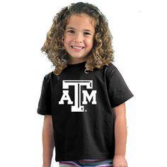 Texas A&M Aggies NCAA Beveled Logo Black Toddler T-Shirt