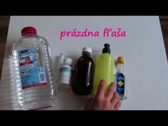 Ako si vyrobiť doma dezinfekciu na ruky Hand Sanitizer, Drink Bottles, Water Bottle, Homemade, Drinks, Youtube, Diy, Liquor, Drinking