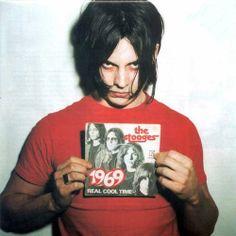 "Jack White (The White Stripes), and prefert : of The Stooges ""Real Cool Time"". Jack White, Meg White, White Boys, White White, Music Love, Music Is Life, Good Music, The White Stripes, Techno"