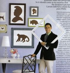 Johnathan Adler - Amazing Interior Designer, Gorgeous Design Aesthetic. We could probably be best friends ;-).