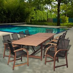 Allyson 11-piece Dining Wood Set Buy