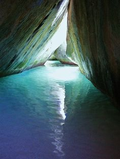 The baths look just like this photo...it is sooo cool!  Caribbean, The Baths Virgin Gorda, BVI!