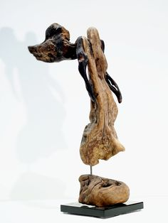 Driftwood Angel Sculpture, Abstract Natural Wood Decorative Art Figure by driftwoodartwork on Etsy