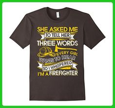 Mens  I'm A Firefighter Shirt She Asked Me To Tell Her Three Word Small Asphalt - Careers professions shirts (*Amazon Partner-Link)