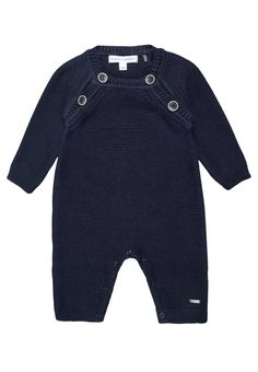 """BLUE STAR  - Jumpsuit - black iris/blue. Outer fabric material:100% cotton. Fastening:Press studs. Total length:16.5 """" (Size 2m). Length:long. inner leg length:4.5 """" (Size 2m). Fit:regular. Pattern:plain. Neckline:round neck. Washing instructions:machine wash at 40°C,do not tumble dry,Ma..."""