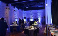 ALMA Project @ UOLL Firenze - Lighting dinner pinspot pin spot lucciola lucciole pali palo uplights battery rasha blue table 12