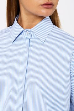 STRIPE TAILORED SHIRT Scanlan Theodore, Tailored Shirts, Project 333, Shirt Dress, Denim, Long Sleeve, Sleeves, Mens Tops, Collection