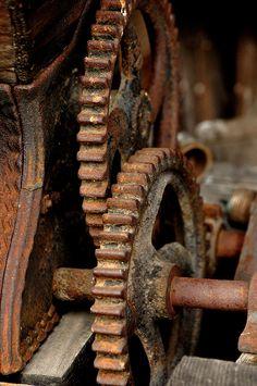 Rusty Gearage by Denise Powers Fabian