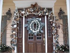 Design By Kelli - Vinyl Decals, lettering, Interior Decorating, Event Planning, Staging: Coastal Christmas~ Day 6 of Christmas Decorating Marathon~Coastal Decor!
