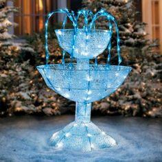 Crystal LED Fountain Outdoor Christmas Decoration