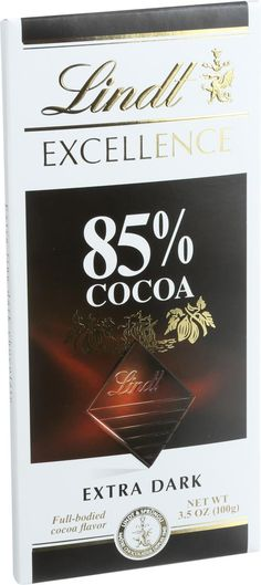 Lindt Chocolate Bar - Dark Chocolate - 85 Percent Cocoa - Extra Dark - 3.5 Oz Bars - Case Of 12