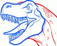How to Draw a T-Rex Head, Step by Step, Dinosaurs, Animals, FREE Online Drawing Tutorial, Added by Dawn, September 2, 2013, 6:19:47 am