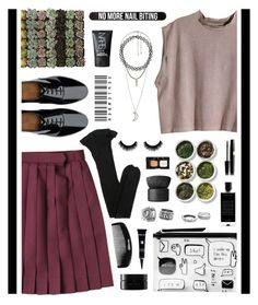 """""""Nail Bitter"""" by angiegdurant on Polyvore featuring H&M, Shop Succulents, Monki, FitFlop, Yves Saint Laurent, Agonist, arbū, Tea Collection, Charlotte Russe and Bershka"""