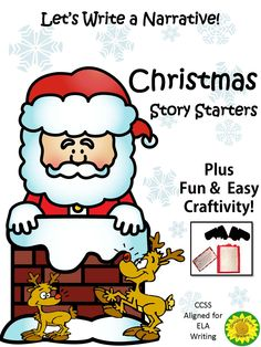 Lots of writing prompts, cards and transition words to use in independent writing. For literacy writing centers, or homework or the sub! Fun way to get your kids writing narratives. Focused on one topic---Santa Got Stuck in the Chimney. But with different story starters, and open-ended for surprise endings. Great way to have a common topic with your students, yet end up with individual and original stories! Fun & easy craft with directions included!