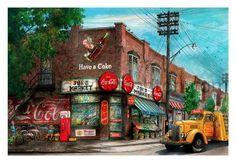 "Joe's ""Coca Cola"" Market, Toronto by Artist Illustrator David Crighton  David Crighton Art"