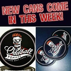 For anyone wondering when their order will ship we have new cans coming in this week! They will ship out as soon as they arrive here! Apologies for the inconvenience.  #apologies #oddball #oddballpomade #pomade #pomp #pompadour #slick #slickedback #beard #beardsofinstagram #beardedvillains #beardgang #barber #barbershop #barbershopconnect #hair #haircut by oddballpomade