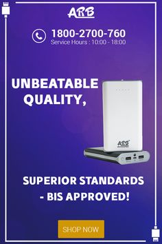 Unbeatable Quality, Superior Standards - BIS Approved!  #PowerBank #ARBPowerBank   Shop @ http://arbpowerbank.com/
