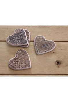 Set Of 4 Mauve Heart Crackle Coasters from Next Mad Hatter Tea, Easter Table, Cool Things To Buy, Stuff To Buy, Home Projects, Mauve, Tea Party, Kitchen Decor, Coasters