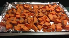 Sunday Meal Prep Sweet Potatoes : olive oil, garlic powder, Mrs. Dash Original, pepper