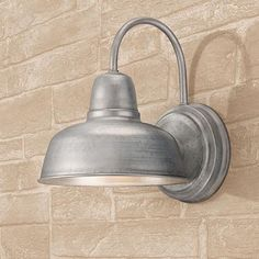 "Urban Barn 11 1/4"" High Galvanized Outdoor Wall Light"