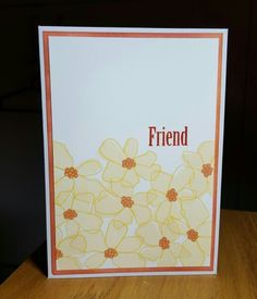 """Clean and simple card using a Simon Says stamp set """"artful flowers"""""""