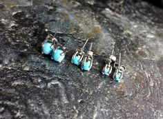Turquoise Earrings Stud Hypoallergenic Steel Piercing