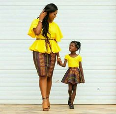 matching african outfits for mother and daughter,mother and child ankara styles,latest ankara styles for nursing mothers,mummy and daughter styles,mother and daughter african wear African Inspired Fashion, African Print Fashion, Africa Fashion, Fashion Prints, Fashion Design, African Print Dresses, African Fashion Dresses, African Dress, African Prints