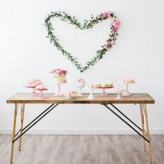 Dessert Table from a We Love Lucy Pink + Gold Baby Shower via Kara's Party Ideas   KarasPartyIdeas.com (36)