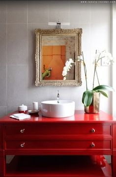 Powder room. But I would have chosen sconces rather that that out of place light above the mirror.