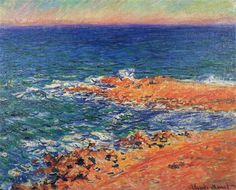 The Big Blue Sea in Antibes 1888 Claude Monet