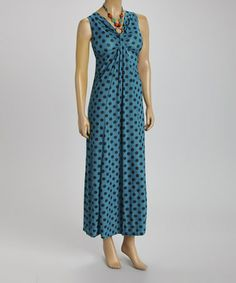 Another great find on #zulily! Teal Dot Embellished Sleeveless Dress by BellaBerry #zulilyfinds