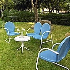 image of Crosley Griffith 4-Piece Metal Outdoor Seating Set