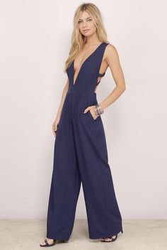 Roxette Plunging Jumpsuit at Tobi.com | #SHOPTobi | Jumpsuits | #JumpRightIn