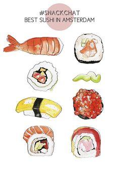 Snackchat: best sushi in Amsterdam