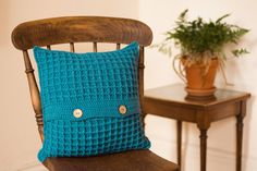 Blue Cushion Cover Crochet Cushion Cover Blue by TorvaigDesigns Blue Cushion Covers, Crochet Cushion Cover, Crochet Cushions, Cushion Inserts, Colourful Cushions, Scatter Cushions, Blue Throw Pillows, Accent Pillows, Conkers