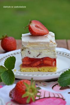 Polish Recipes, Polish Food, Vanilla Cake, Cheesecake, Food And Drink, Sweets, Cook, Bakken, Gummi Candy