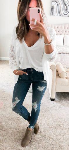casual fashion trends that hot Perfect Fall Outfit, Cute Fall Outfits, Fall Winter Outfits, Winter Fashion, Casual Outfits, Fashion Outfits, Womens Fashion, Ladies Fashion, Jeans Fashion