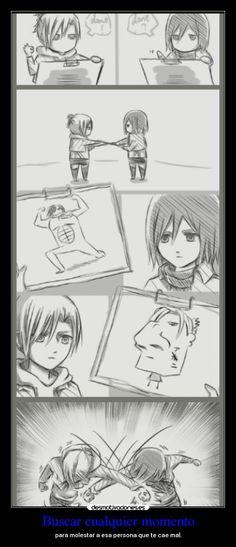 Shingeki no Kyojin - Batalla Mikasa Vs Annie