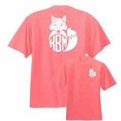 What Does The Fox Say......Get a Preppy Monogrammed Fox shirt from Under the Carolina Moon. #underthecarolinamoon