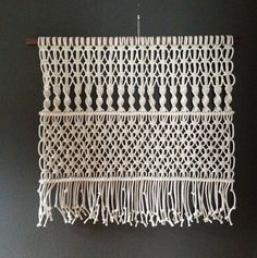 Macrame Wall Hanging Lg. Maze by HollyMuellerHome on Etsy
