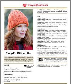 Beanie Knitting Patterns Free, Knit Beanie Pattern, Beginner Knitting Patterns, Knit Headband Pattern, Baby Hats Knitting, Easy Knitting Patterns, Knitting For Beginners, Loom Knitting, Knitted Hats