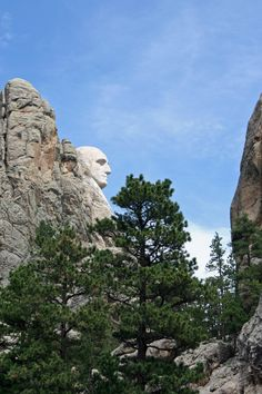 When I rounded this curve, I realized that the rocks I had just photographed were the back of Rushmore.  (Black Hills, SD)