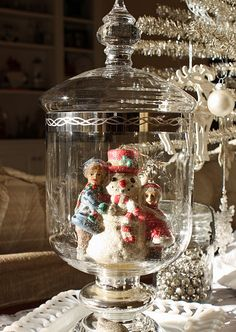 Christmas Jar. I have a mercury glass ornament very similar to this that would work great!
