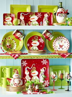 The snowmen on Pier 1 Jolly Holiday Serveware will make your heart melt