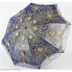 Embroidery Lace Elegant Vintage Parasol/Umbrella for Party/Shopping Anti UV #Parasol