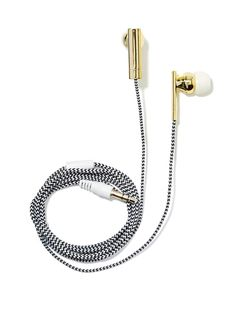 FYI, these are a fabulous stocking stuffer for the luxe obsessed or techie in your life. // Skinnydip London Earbuds in black/ white