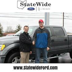 Peter Wellman taking delivery of his new Ford F-150 from Logan Rupert. Thank you for your business Peter.