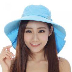 Fashion Women Sun Hat Foldable Wide Brim Self-tie Bow Summer Beach Floppy Cap Headwear