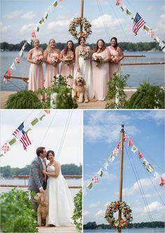 nautical wedding party | bridesmaids | pink bridesmaids dresses | #weddingchicks